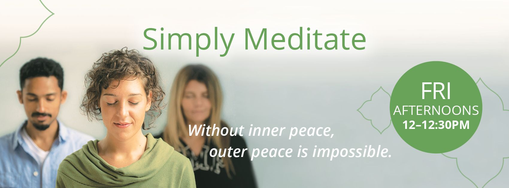 Simply Meditate Wednesday and Friday
